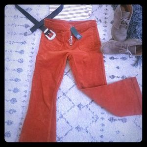 Pants - Retro style corduroy pants